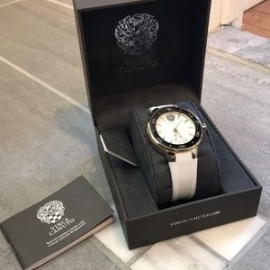 Vince Camuto White Silicone Sport Watch